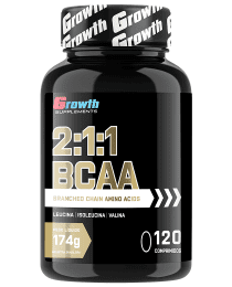 Suplemento BCAA 2:1:1 - 120 COMPRIMIDOS TAB - GROWTH SUPPLEMENTS