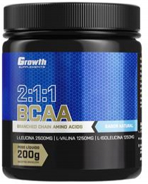 Suplemento BCAA (2:1:1) (200g) (em pó) - Growth Supplements