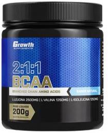 Suplemento BCAA (2:1:1) (200g) (em pó) - Growth Supplements