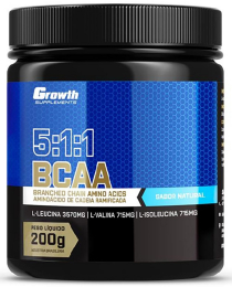 Suplemento BCAA (5:1:1) (200g) (em pó) - Growth Supplements