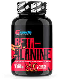 Suplemento BETA-ALANINA 120 COMPRIMIDOS - GROWTH SUPPLEMENTS