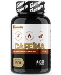 Suplemento Cafeína (210MG) 60 caps - Growth Supplements (thermogênico)