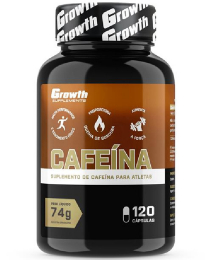 Suplemento Cafeína (420MG) 120caps - Growth Supplements (thermogênico)