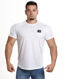 Suplemento Camiseta básica G peito - Cor Branca - Growth Supplements
