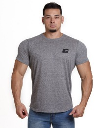 Suplemento Camiseta básica G peito - Cor Cinza - Growth Supplements