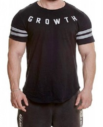 Suplemento Camiseta Preta Growth Refletivo - Growth Supplements