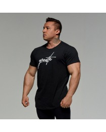 Suplemento Camiseta Preta Logo Manuscrito - Growth Supplements