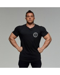 Suplemento Camiseta Preta Selo Peito - Growth Supplements