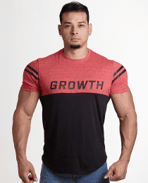 Suplemento Camiseta Vermelha e Preta - Growth Supplements