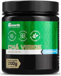 Suplemento Chá verde 200g instantâneo (sabor natural) - Growth Supplements
