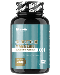 Suplemento Cloreto de Magnésio 120 comp - Growth Supplements