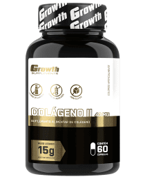 Suplemento Colágeno Tipo 2 40mg - 60 cápsulas - Growth Supplements