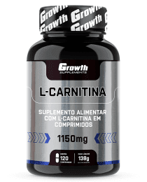 Suplemento L-CARNITINA 1150MG  120 COMP - GROWTH SUPPLEMENTS