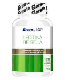 Suplemento Lecitina de Soja 120 Cápsulas - Growth Supplements