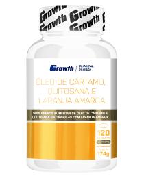 Suplemento Óleo de Cártamo, Quitosana e Laranja Amarga 120 cápsulas - Growth Supplements