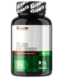 Suplemento Óleo de Coco 75 softgel - Growth Supplements