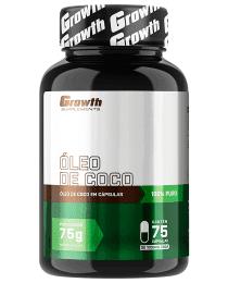 Suplemento Óleo de Coco 75 softgel - Growth Supplements