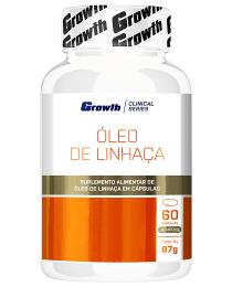 Suplemento Óleo de linhaça 60 cápsulas - Growth Supplements