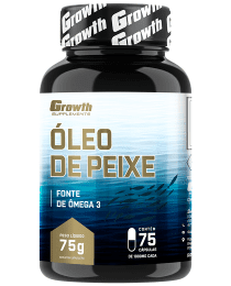 Suplemento Óleo de Peixe - Ômega 3 (75 Softgel) - Growth Supplements