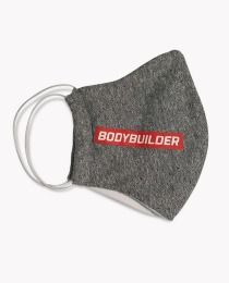 Suplemento Máscara de proteção cor cinza BodyBuilder - Growth Supplements