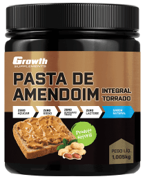 Suplemento Pasta de Amendoim Integral Torrado 1kg - Growth Supplements