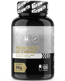 Suplemento Picolinato de Cromo 120caps - Growth Supplements