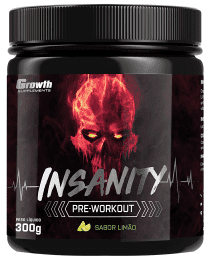 Suplemento Pré-treino Insanity 300gr - Growth Supplements