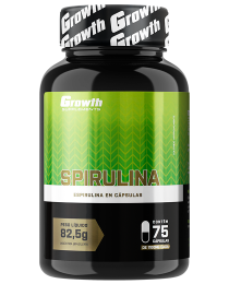 Suplemento Spirulina (75 cápsulas) - Growth Supplements