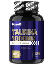 Suplemento Taurina 1000mg 120 comprimidos - Growth Supplements