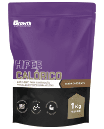 Suplemento (TOP) Hipercalórico (sabor chocolate) (1KG) - Growth Supplements