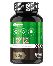 Suplemento Vitamina B12 com 120 cápsulas - Growth Supplements