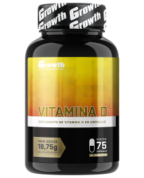 Suplemento Vitamina D (75 cápsulas) - Growth Supplements
