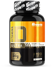 Suplemento Vitamina D ULTRA (2000UI) 120 caps - Growth Supplements