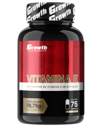 Suplemento Vitamina E (75caps) - Growth Supplements