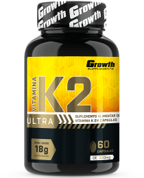 Suplemento Vitamina K2 Ultra 60 Cápsulas - Growth Supplements