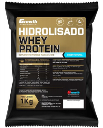 Suplemento Whey Protein Hidrolisado (1kg) (sabor natural) - Growth Supplements