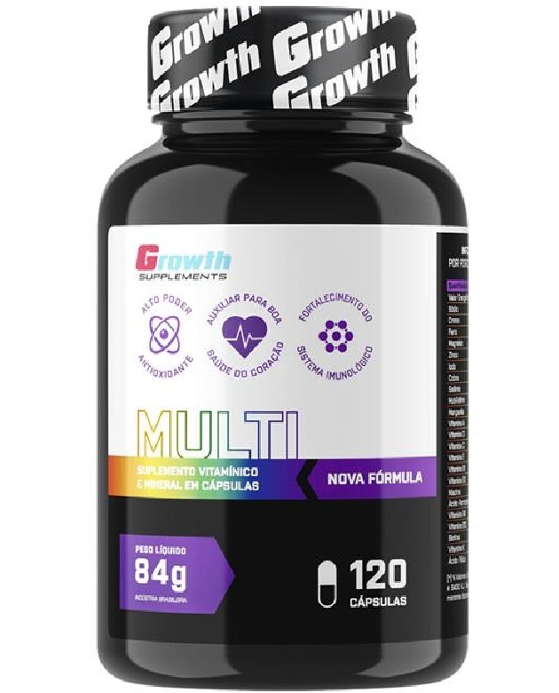 Multivitamínico (120 caps) (nova fórmula) - Growth Supplements