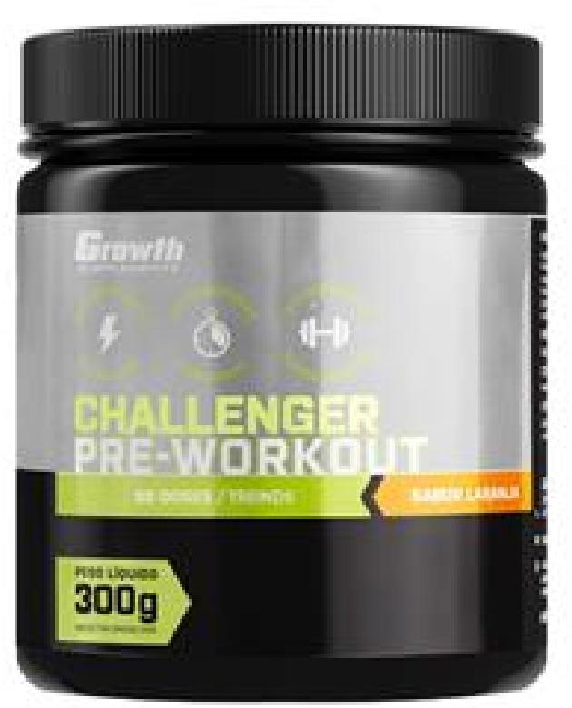 Pré-treino Challenger (300gr/30treinos) (NOVO) - Growth Supplements