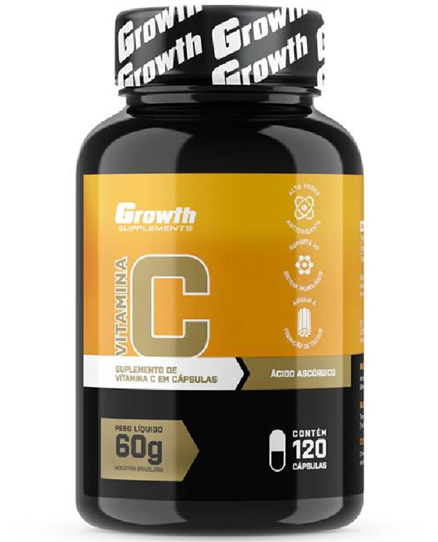 Vitamina C (120 caps) - Growth Supplements